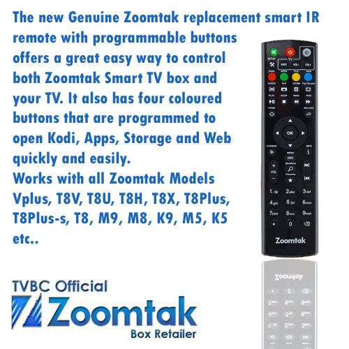 Zoomtak Programmable Replacement IR Remote