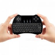 Mini Keyboard Touchpad Mouse Combo Backlit Rechargeable H9
