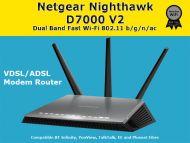 NETGEAR D7000-200UKS Nighthawk AC1900 Dual Band Wireless VDSL/ADSL Modem Router