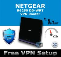 NETGEAR R6250 DD-WRT VPN ROUTER REFURBISHED