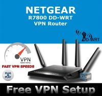 NETGEAR NIGHTHAWK X4S R7800 AC2600 DD-WRT VPN ROUTER REFURBISHED