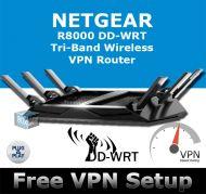 NETGEAR X6 R8000 DD-WRT VPN ROUTER