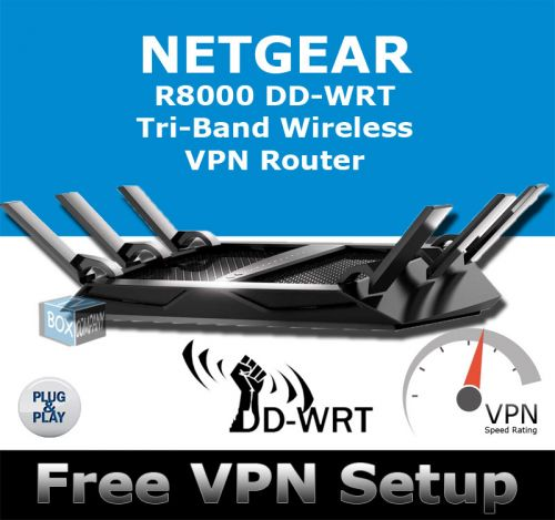 NETGEAR NIGHTHAWK X6 R8000 DD-WRT VPN ROUTER REFURBISHED