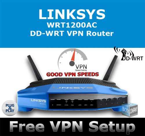 LINKSYS WRT1200AC DD-WRT VPN ROUTER REFURBISHED