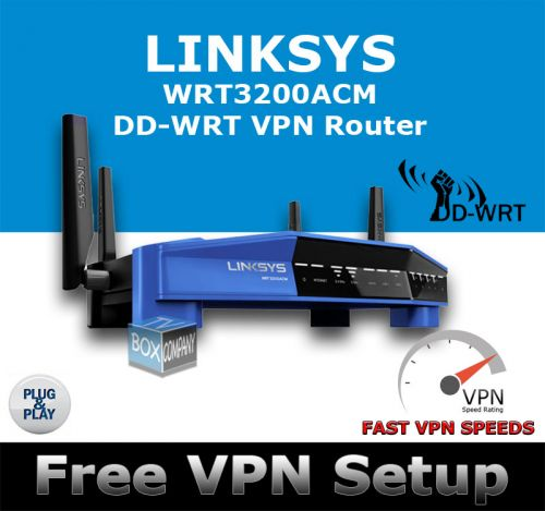 LINKSYS WRT3200ACM DD-WRT VPN WIRELESS ROUTER