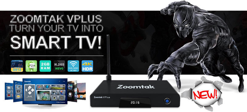 Android TV Box Zoomtak vplus