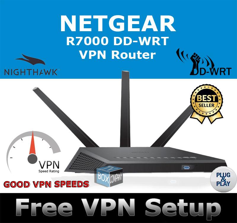 NETGEAR NIGHTHAWK R7000 DD-WRT VPN ROUTER REFURBISHED